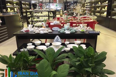 Trang trí nội thất showroom gốm sứ Minh Long I Quận 7